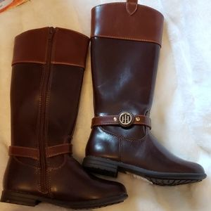 Tommy Hilfiger sz 11 little girl's brown boots NEW